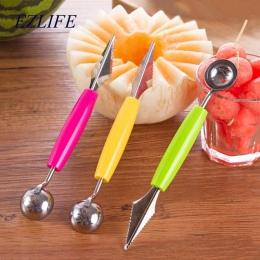 EZLIFE łyżka owoców Melon Baller wielofunkcyjne ze stali nierdzewnej melon pogłębiania łyżka do lodów narzędzia owoce spooner ga