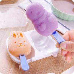 Kreatywny królik Snowman maszyny profesjonalne do produkcji lodu śliczne Popsicle kaseta pojemnik na lód DIY lody formy losowy k