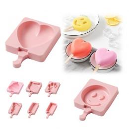 Cartoon lody producentów form silikonowy gruby materiał DIY formy kostki lodu formy deser formy taca z Popsicle