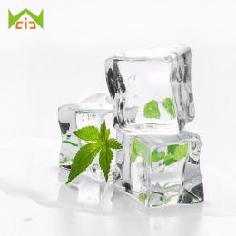 WCIC 5 sztuk sztuczne kostki lodu fałszywe jasne kwadratowe Whisky napoje akrylowe kostki lodu wyświetlacz dla Bar Party ślub fo