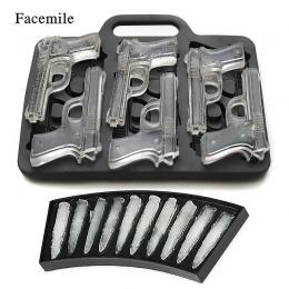 Facemile 2 sztuk/zestaw DIY kostki lodu formy pistolet kształt kuli taca na kostki lodu maszyna do lodów owocowych kuchnia Bar d