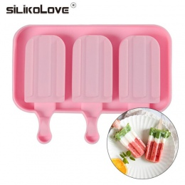 SILIKOLOVE DIY zamrażarka galaretki Pudding formy do lodów Making Mold wiele owoców lody formy silikonowe z patyczki do lodów