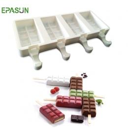 Epson 4 siatki silikonowe Popsicle lodu pop formy do Bar formularz ekspres do DIY mrożone na patyku ciasto mus formy zamrażarka