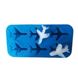 Silikonowe 3d samolot kształt kostki lodu piłka formy ekspres do lodów kremówki czekolada formy formy do ciasta dekorowanie