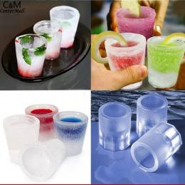 Forma do kostki lodu kostki lodu ekspres lodu foremka do filiżanek czerwony Cube czekoladowe forma tacy silikonowe Pudding cukie