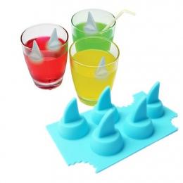 Pić tacka do lodu fajne Shark Fin kształt kostki lodu foremka do lodu ekspres do lodu formy