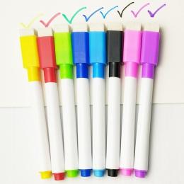 5 sztuk/partia kolorowe czarny szkoła klasie tablica długopis Dry White Board markery zbudowany w gumka Student dla dzieci pióro