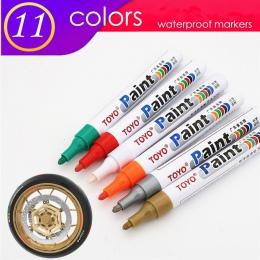 1 sztuk kolorowe marker wodoodporny trwały biały markery bieżnika opony gumowe farba do tkanin metalowe stale borykają się z toy