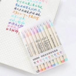 10 sztuk/partia Futurecolor, wprowadzić swoje pędzelek do zdobień kolorowe pisaki zestaw do kaligrafii rysunek prezent koreański