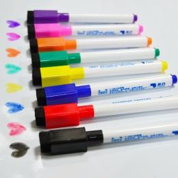 YIBAI 8 sztuk tablica magnetyczna długopis, do rysowania i nagrywania magnes kasowalna Dry White Board markery do szkoły dostaw