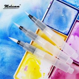 Wody do farbowania długopisy 3 sztuk końcówki pędzla do malowania akwarela rozpuszczalne w wodzie kredki markery stałe kolory sp