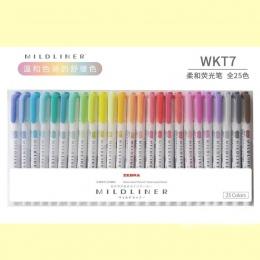 JIANWU 3 sztuk lub 5 sztuk/zestaw japoński piśmienne zebra Mild liniowej podwójne kierunek fluorescencyjny długopis hak długopis