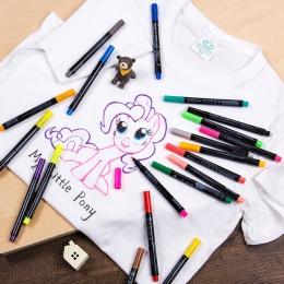 20 kolorów 1mm permanentny marker do malowania dla t-shirt z tkaniny liniowej atramentu włókienniczych tkaniny kolor farb DIY pr