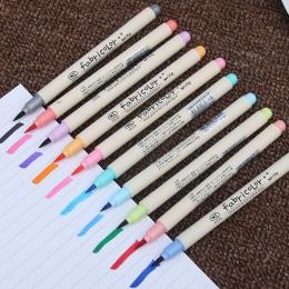 10 sztuk napis Fabricolor pędzelek do zdobień kolor kaligrafii pisaki zestaw chiński piśmienne rysunek artykuły szkolne do plast