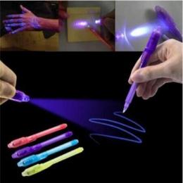 Śliczne śmieszne zakreślacz długopis kreatywny magia UV światło niewidzialne pióro atramentowe dla dzieci Student prezent nowość