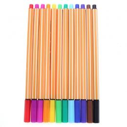 YDNZC 12 kolorów/zestaw 0.4mm Fineliner marker ozdobny akwarela pióro linii pióro do rysowania z włókna skok długopis do szkicow