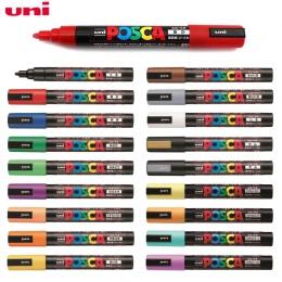 Uni Posca PC-5M kolorowe marker do malowania długopisy szkolne papiernicze artykuły biurowe marker do malowania średnich wskazów