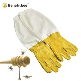 Benefitbee pszczelarz zapobiegać rękawice ochronne rękawy wentylowane profesjonalne Anti pszczoła dla pszczelarz ula żółty