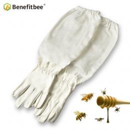 Benefitbee 1 para pszczelarz zapobiegać rękawice ochronne rękawy cienkie miękkie PU skóra przeciw pszczoła pszczoła pszczelarstw