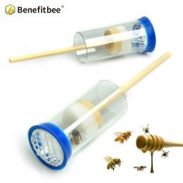 Benefitbee 1 pc pszczelarstwo królowa Bee oznaczone butelka pszczoła narzędzia nowy płodność król znak butelka z tworzywa sztucz