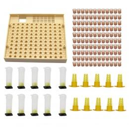 Pszczelarstwo z kubkiem 120 komórek kubki pszczoła narzędzie zestaw System hodowli królowej pszczół Nicot kompletny Catcher Cage