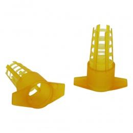 30 sztuk narzędzia pszczelarskie żółty z tworzywa sztucznego pszczoła królowa klatka pokrywa ochronna narzędzia pszczelarskie ko