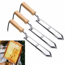 Apicultura elektryczny nóż miodowy pszczoła sprzęt pszczelarski szybko się nagrzewa, nóż do cięcia skrobak pszczoła narzędzie EU