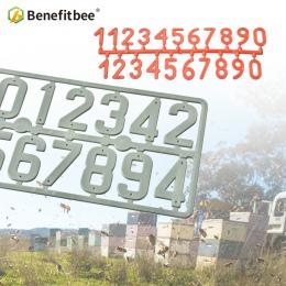Benefitbee 3 sztuk/paczka plastikowe ula cyfrowy numer pszczelarskich pole znak rama sprzęt pszczelarski narzędzie pszczelarstwo