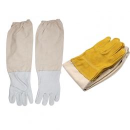 Pszczelarstwo rękawice ochronne z owczej skóry rękawy wentylowane profesjonalne Anti pszczoła dla pszczelarz ula