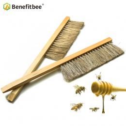 Benefitbee narzędzia pszczelarskie Wood Bee do zamiatania pędzel dwa rzędy skrzyp do włosów New Bee szczotki sprzęt pszczelarski