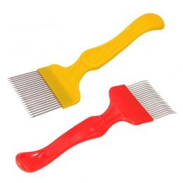 DLKKLB 1 Pc dobrej jakości 21 Pin ze stali nierdzewnej zęby grzebień Uncapping widelec Scratcher dwa kolor Cut miód widelec pszc
