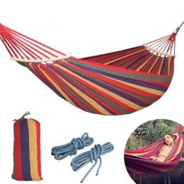 250*150 cm 2 osób zewnętrzny namiot Camping Hamak zginać drewna kij stały Hamak huśtawka ogrodowa wiszące krzesło Hangmat niebie
