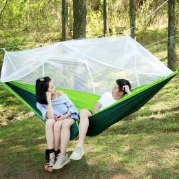 Ultralight spadochron hamak polowanie na moskitiera podwójna osoba łóżko Drop-Shipping na świeżym powietrzu Camping przenośny ha