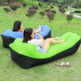 Szybko składane sofy ogrodowe wodoodporny worek nadmuchiwany dmuchana sofa camping śpiwory materac dmuchany dla dorosłych plażow