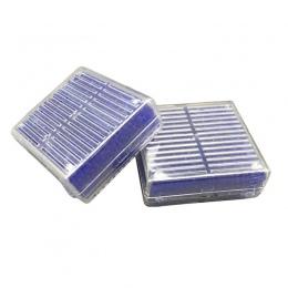 2 sztuk wielokrotnego użytku krzemionkowy środek osuszający w żelu osuszacz wchłaniania wilgoci koraliki Box (niebieski)