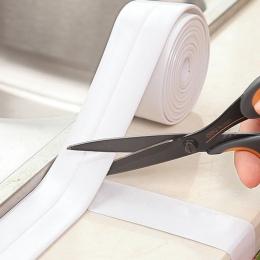 Nowy 320x2.2 cm taśma uszczelniająca na ścianę do kuchni i łazienki pcv wodoodporna pleśń dowód zlew wspólne szczelinowa naklejk