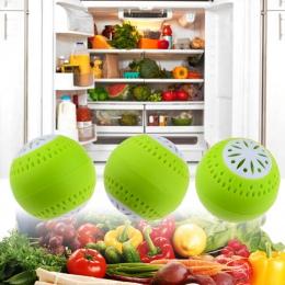 Nowy gorący 3 sztuk lodówka pochłaniacze wilgoci Eliminator usuwanie zapachów kulki akcesorium kuchenne do domu Drop Ship-zielon