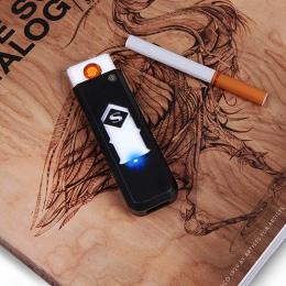 1 PC wiatroszczelna miły prezent bezdymne bezpłomieniową wiatroodporny USB ładowania zapalniczki elektroniczne zapalniczki akces