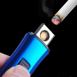Kreatywny mały akumulator wiatroodporny, bezpłomieniowy, elektryczny, elektroniczne ładowanie zapalniczki bezdymne Super zapalni