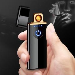 Do ładowania, która dotykowy indukcyjna, wiatroodporna, elektroniczna ultra cienka zapalniczka na USB niestandardowe metalowe