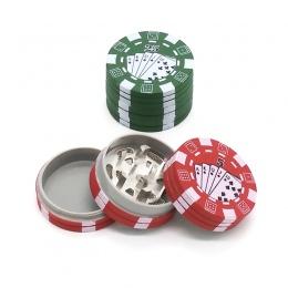 3 warstwy Poker Chip styl zioło ziołowy młynek do tytoniu szlifierki chwastów akcesoria gadżet czerwony/zielony/czarny