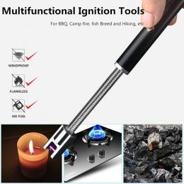 360 obrót USB akumulator papieros zapalniczki długi kuchnia elektroniczny zapalniczki wiatroszczelna plazma elektryczny nowość l