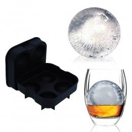 Kostki lodu Ball Maker koktajl whisky lodowa kulka formy 4 duże zamrożone kula taca na kostki lodu narzędzia do lodów narzędzia