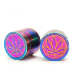 Metalowe ze stopu cynku 40mm młynek do tytoniu Rainbow kolor piękne zioło ziołowy Spice kruszarki palenie akcesoria do rur maszy