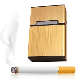 2018 osobowości twórczej aluminium papierośnica moda męska cygarowy uchwyt na papierosy kieszonkowy pojemnik do przechowywania p