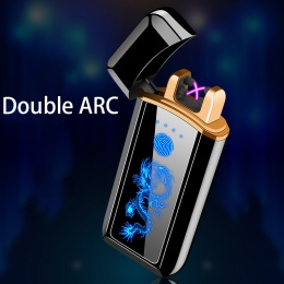 Zapalniczka plazmowa elektroniczna zapalniczka zapalniczki do palenia ładowania Usb podwójny łuk