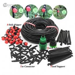 MUCIAKIE 25 M DIY System nawadniania kropelkowego automatyczny wąż ogrodowy do podlewania Micro Drip ogród podlewanie zestawy z