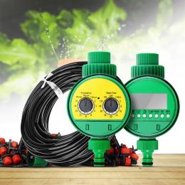 25 m Micro Drip System nawadniania roślin automatyczne Spray szklarni podlewanie zestawy ogrodowe wąż regulowany kroplownik zras
