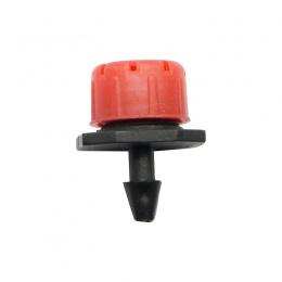 50 sztuk regulowany kroplownik czerwony mikro nawadniania kropelkowego Anti-clogging emiter narzędzia ogrodowe dla 1/4 cal wąż