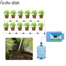 Do nawadniania kropelkowego LED pompa automatyczny zestaw do podlewania roślin podlewanie zegar ogród czasowy wyłącznik przepływ